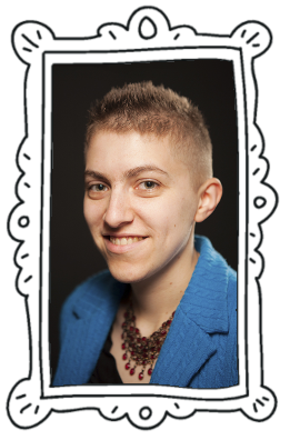 author photo with frame